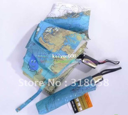 Wholesale 48pcs Hot Selling World Map Umbrella Anti UV Water repellent Auto open and close Umbrella