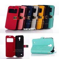 Wholesale 1pcs PU flip Leather s4 mini cover Case For Samsung Galaxy I9190 I9192 I9195