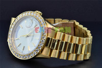 Cheap Luxury AAA Top Quality Wristwatch Watch President 18K Yellow Gold Custom Diamond Watch Bezel 38mm