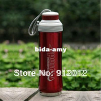Wholesale Red Cycling Bike Bicycle Sports Double wall Stainless Steel Water Bottle ml