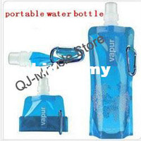 Wholesale 480ML Travel portable Folding Water Bottle Plastic Outdoor Camping Mountaineering Tourism Supplies Drinking Water Kettle CupA008