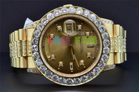 Cheap Luxury AAA Top Quality Wristwatch Watch President 18K Yellow Gold Custom Diamond Watch Bezel 39mm