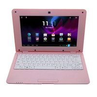 Wholesale 10Inch Mini laptop computer android netbook Via dual core Cortex A9 processor Ghz with camera M G RAM GB HDD Notebook