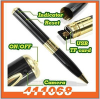 Wholesale MINI SPY PEN HIDDEN CAMERA Micro Digital Cam WebCam DV DVR DC Video Recorder Camcorder Recording Pen