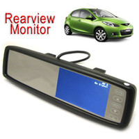 touch screen lcd tv - Touch Screen Car Rear View Mirror DVR Video Monitor For VCD DVD TV Camera x Inch TFT LCD CMO_365