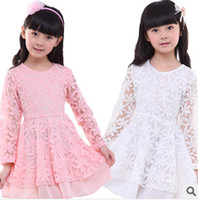 2014 children's wear Lace dresses of the girls Children's fo...