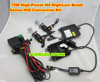 Wholesale Super Bright W High Power H4 High Low Beam Xenon HID Conversion Kit Pulse Control Telescopic Light