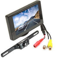 ML_CMO_384 reverse camera - 4 Inch Digital Color TFT LCD car wireless Parking camera Wireless Waterproof TVL Night vision Rear view Reverse Camera CMO_384