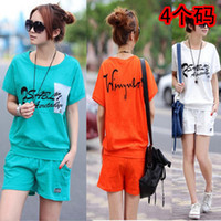 Wholesale 2014 new Korean version of Women in summer and autumn loose short sleeved t shirt big yards bat shirt fashion casual sportswear