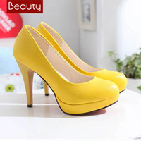 Yellow Dress Shoes For Women: Classic-grace-brand-Solid-yellow-High-heel-suede-women-shoes-genuine-leather-lady-dress-shoes-office-503230729a631.jpg
