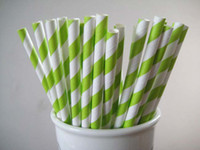 Wholesale Multi colors Striped and Polka Dot Drinking Paper Straws for Wedding Birthday Party Decoration K07637