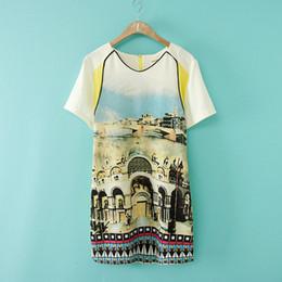 Wholesale Three colors Hot sell Summer Women Sheath Mini dress Round Collar as Gift Chiffon Dress ELF SACK same model