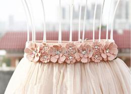 Wholesale Girls Dresses Belts Rhinestone Flower Belts Decoration