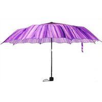 Wholesale Novelty Items Three Folding Purple Daisy Flower Women s Umbrella The Parasols Rain Umbrellas