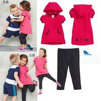 Wholesale Free Children Shampooers jogging tracksuits sport set short sleeve Tshirt shorts pants kids Boys Girls baby Summer clothes Suit