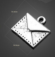 Wholesale Bulk Zinc Alloy Antique Silver Small Envelopes Charms DIY Pendant Crafted Jewelry A13210