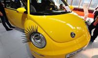 Wholesale charming eyelash stickers for cars Car Eyelashes Car Accessories D Eyelash D Car Logo Sticker
