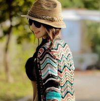 Wholesale Fashion straw Wide Brim Hats sun hat for women formal jazz leisure hats in summer