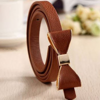 Wholesale Fashion Lady Nancy Bow skinny Belts