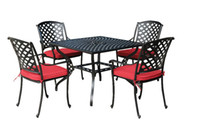 Wholesale Spring Promotion NEW patio round dining Set RED metal amp fabric warehouse in the US outdoor furniture