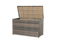 Wholesale Promotion Wicker Chocolate Weave Cushion Box Patio Rattan Furniture Storage Solutions containing box storage tank Cushion Box