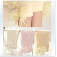 Wholesale Wholesales new Children s girls spring summer autumn cotton lace bow pants middle length Leggings Tights DK