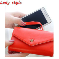 Wallets Women PU Free Shipping! Fashion Crown Wallet Leather Cell Phone Smart Pouch Case For Samsung Galaxy S2 s3.Promotion Low Price