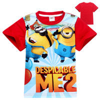Wholesale Hot Sale New Summer wear new cartoon minions super milk dad cartoon children s short sleeve T shirt