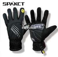 Wholesale SPAKCT Winter Warm Men Skull SRG Silicone Gel Paded Road MTB BMX Bike Bicycle Cycling Cycle Wear Full Long Finger Gloves Color