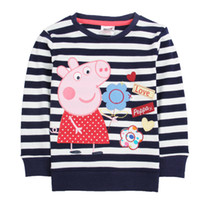 Wholesale Brand New FashionChildren s t shirt tunic top peppa pig girl long sleeve T shirt minion t shirt children clothes long t shirt for baby girls