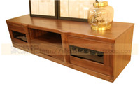 wood TV Stand Home Furniture South Seas hu furniture modern chinese style solid wood walnut chinese catalpa wood yt6101 tv cabinet