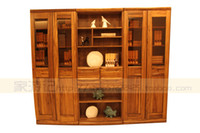 wood Living Room Furniture Bookcase South Seas hu furniture modern chinese style pure sleeve wood vf7101 bookcase cabinet