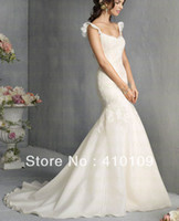 Other Model Pictures Chiffon NEW!!! HIGH QUALITY !!REAL PICTURES!!! shoulder straps wedding dress