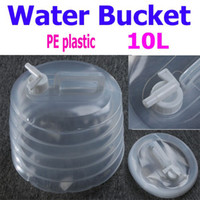 Wholesale Portable Outdoor Camping Folding PE Water Bucket L