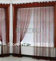 Wholesale 3pcs cm cm String Line Curtains Window Curtain Fringe Panel Home Decoration Door Panel Room Divider Wedding