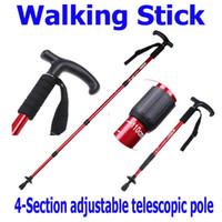 "Trekking Poles H8080 Aluminum Free Shipping, Adjustable Telescopic AntiShock Trekking Hiking Walking Stick Pole 20"" to 43"" Wholesale"