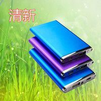 ff Universal Power Bank metal -thin 5600 mAh External Backup Power Bank Battery Charger mini flashlight For iPhone iPod iPad iTouch Samsung HTC MP4