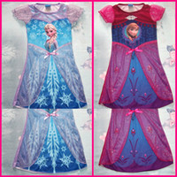 Wholesale 2014 New Arrival Anna Elsa Frozen Girl Dress Girl Dresses Baby Dress Princess Skirt Lace Flower Tutu Dress Girl Party Dresses GZ GD2345