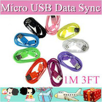 Wholesale 300pcs Micro USB Mains Charger roungd Cable Wire For samsung galaxy S2 S3 S4 note note iPhone4 iPhone5 HTC M3TF
