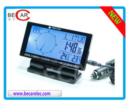 Wholesale Car styling electronic compass with clock calendar thermometer function