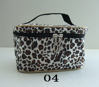 Wholesale NEW leopard makeup bag colors choose