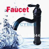Basin Faucets Single Hole Brass Single Handle Modern Brushed Nickel Bathroom Vessel Sink Lavatory Swivel Spout Basin Faucet Mixer Tap Free Shipping 2541