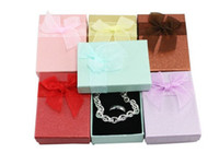 Wholesale Paper Packaging With Lace Bow Women Wedding Rings new year Gift Boxes
