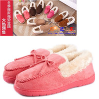 Wholesale Hot sale NEW package with plush lovers cotton padded slippers winter for women and men at home warm shoes fashion