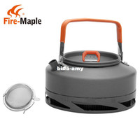 Wholesale New Fire Maple New Camping Kettle Heat Exchanger Kettle Coffee Tea Pot L g Net Bag FMC XT1 Free tea strainer
