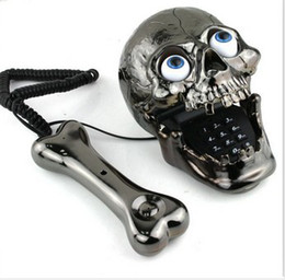 Free Shipping Skull Phone Fashinon Telephone Skull Telephone Jumping Eyes Skull Phone with Bone Headset black top sale