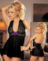 Wholesale Black Plus Size S M L XL XXL XXXL XXXXL XL XL XL Sexy Lingerie Sheer Babydoll Dress Chemise Underwear Sleepwear Nighty