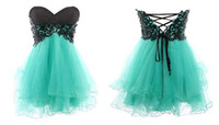 Reference Images Sweetheart Tulle Sweetheart Neckline Lace-up Back Butterfly Corset Short Formal Junior Prom Dresses Homecoming Birthday Party Graduation Gowns 2014 New wj