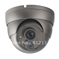 Cheap Security CCTV 1 3 inch SONY HAD CCD 600TVL High Resolution 6mm lens OSD Menu Array Super LED IR Color Dome Camera