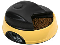 Automatic Feeders & Waterers Plastic Indoor 4 Meal LCD Automatic Pet Feeder Dish Dog Cat Bowl with Water Dispenser